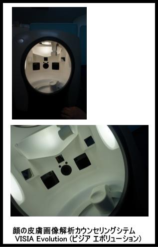 顔の皮膚画像解析カウンセリングシテム VISIA Evolution (ビジア エボリューション)