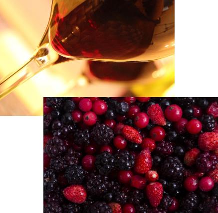 ベリーと赤ワイン