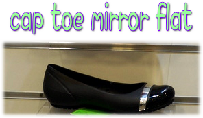 cap toe mirror flat