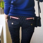 色柄違いで欲しくなる!細見えする美尻ストレッチスキニーパンツ!黒スキニー穿いてミタ♪