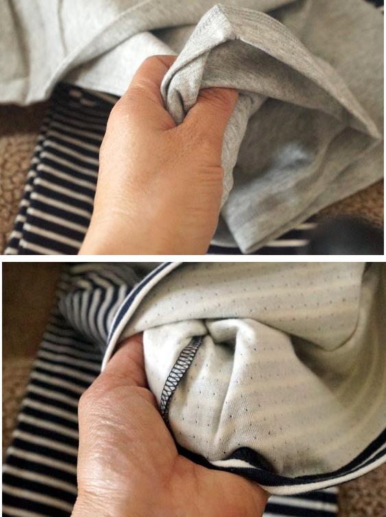 パジャマの手触り
