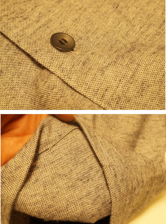 無撚糸使いの播州織パジャマ 素材