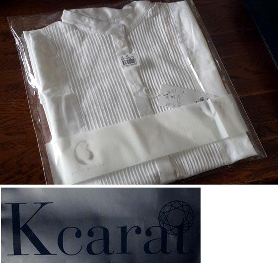 Kカラットピンタックシャツ