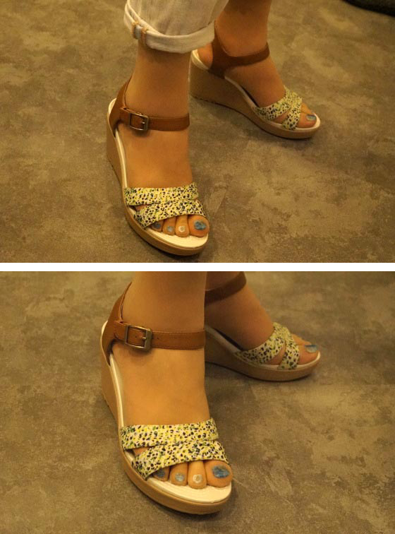 eigh 2.0 ankle strap graphic wedge w アップ
